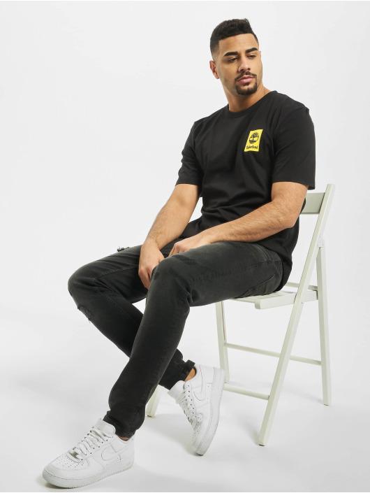 Timberland T-Shirty SS Back Logo Camo czarny