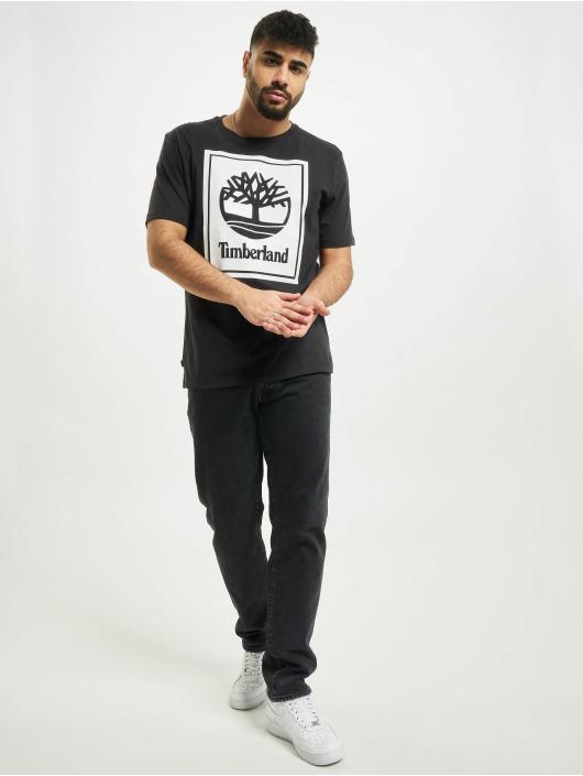 Timberland T-Shirty Yc Stack Logo czarny