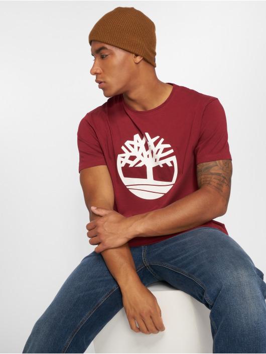 Timberland T-Shirty Brand Tree Regular czerwony