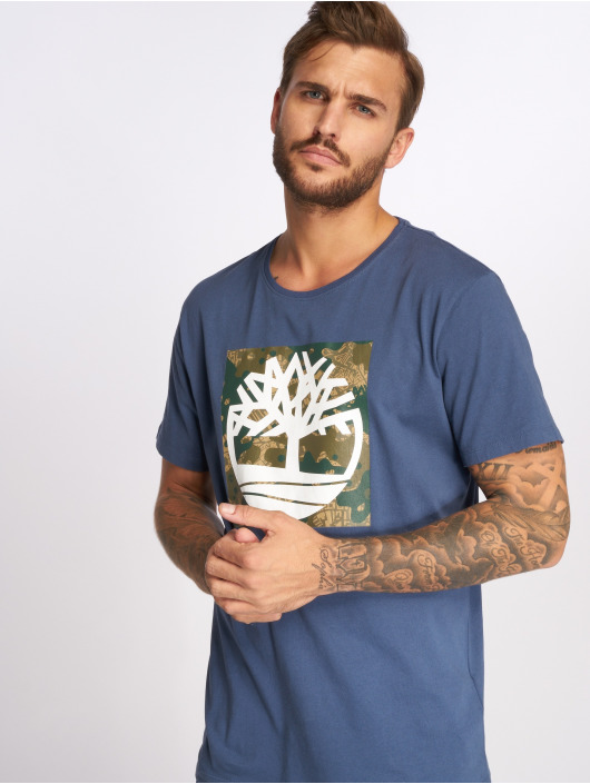 Timberland T-Shirty SSNL Pattern niebieski