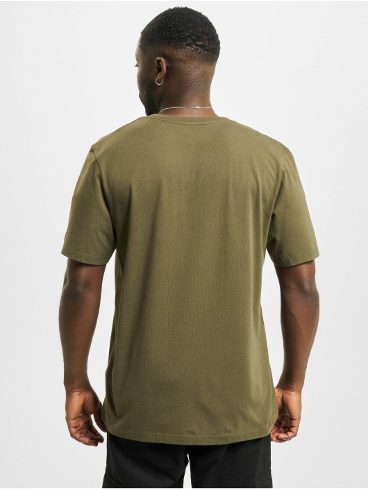Timberland T-Shirty Ft Linear oliwkowy