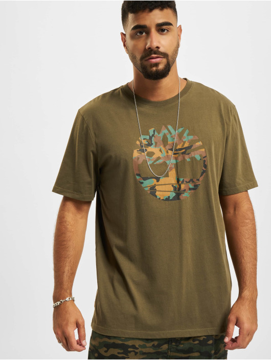 Timberland T-Shirty SSCamo Tree oliwkowy