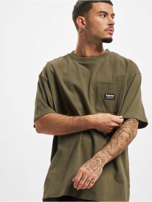 Timberland T-Shirty YC oliwkowy