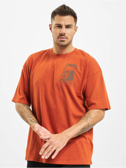 Timberland T-Shirty Ss Outdoor Inspired pomaranczowy