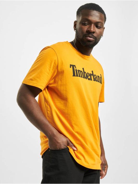 Timberland T-Shirty K-R Brand Linear pomaranczowy