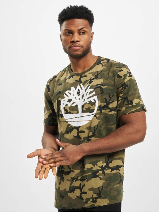 Timberland T-Shirty K-R Aop Camo szary