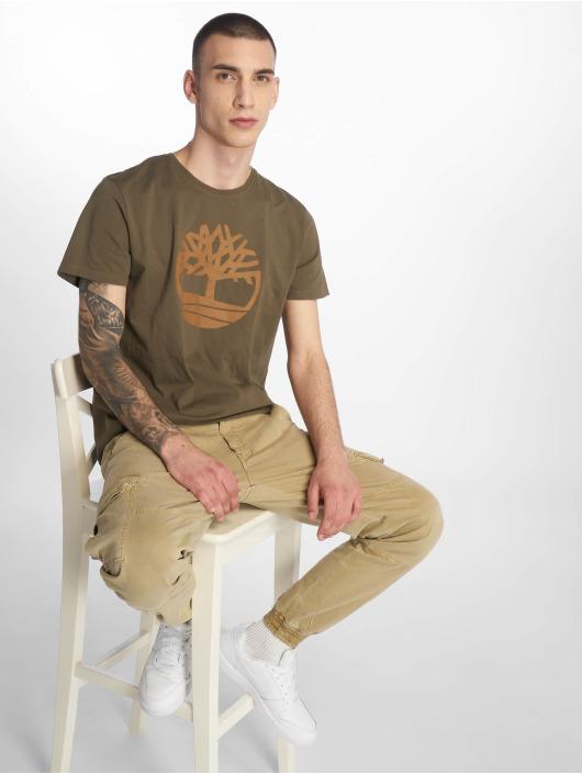 Timberland T-Shirty Brand Tree&lin Reg zielony