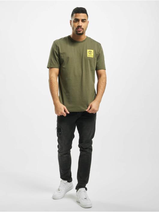 Timberland T-Shirty SS Back Logo Camo zielony