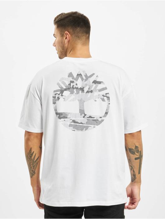 Timberland T-skjorter Ycc Ss Back Tree hvit