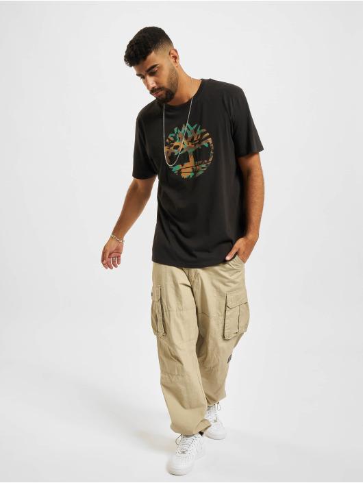 Timberland T-skjorter SS Camo Tree svart