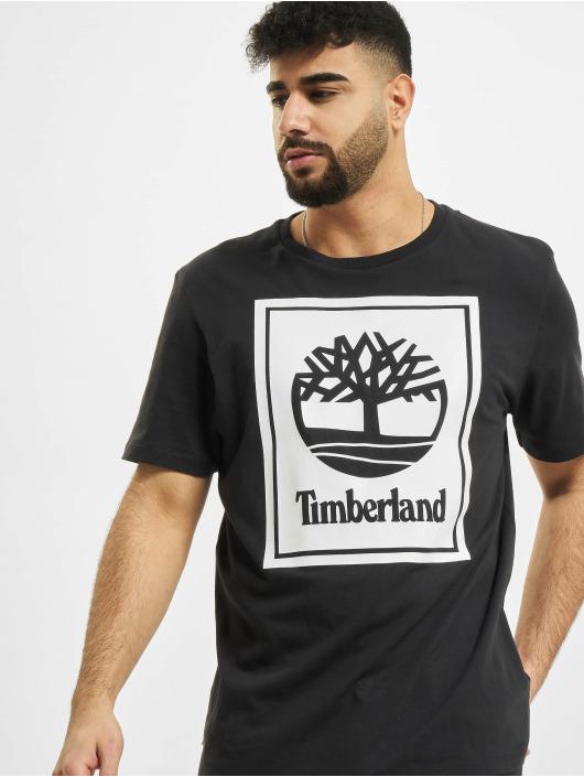 Timberland Tričká Yc Stack Logo èierna