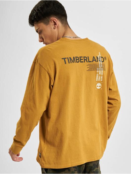 Timberland Tričká dlhý rukáv Yc Ww Graphic béžová