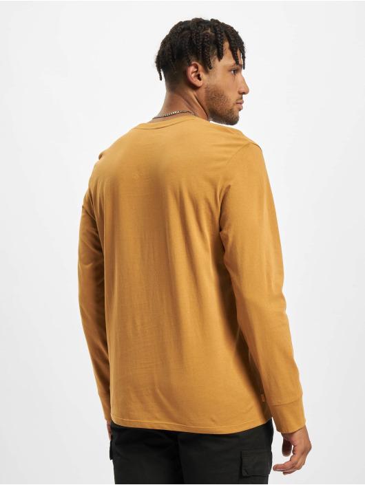 Timberland Tričká dlhý rukáv Stack Logo béžová