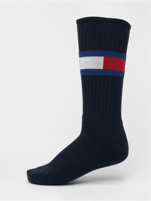 Tommy Hilfiger Dobotex Chaussettes Flag 1-Pack bleu