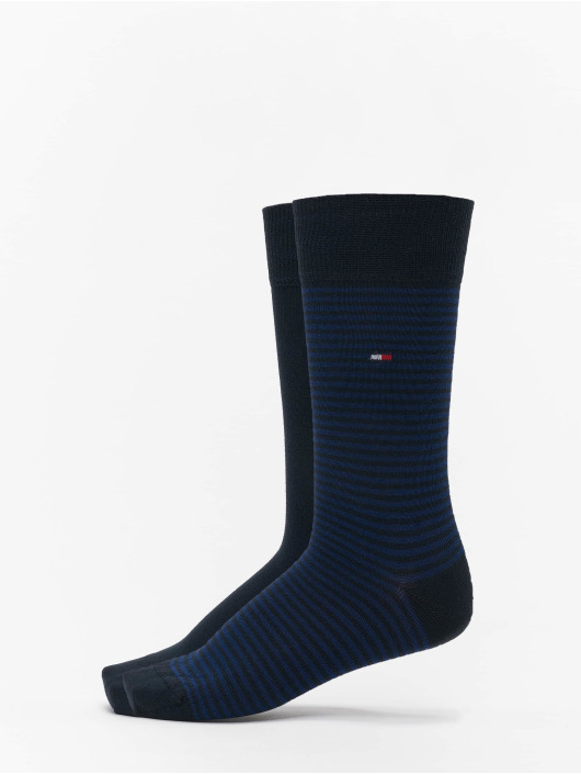 Tommy Hilfiger Dobotex Chaussettes 2 Pack Small Stripe bleu