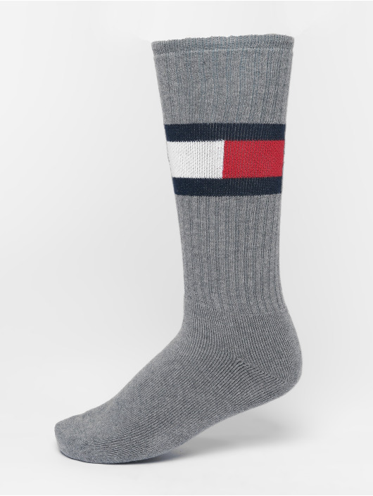 Tommy Hilfiger Dobotex Chaussettes Flag 1-Pack gris