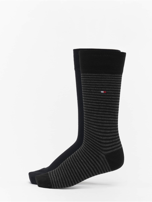 Tommy Hilfiger Dobotex Chaussettes 2 Pack Small Stripe noir