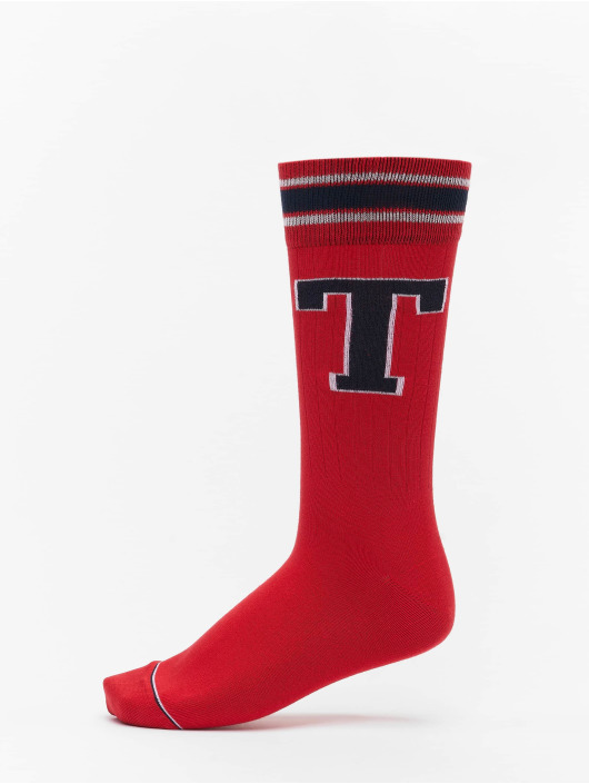 Tommy Hilfiger Dobotex Chaussettes 2 Pack Patch rouge