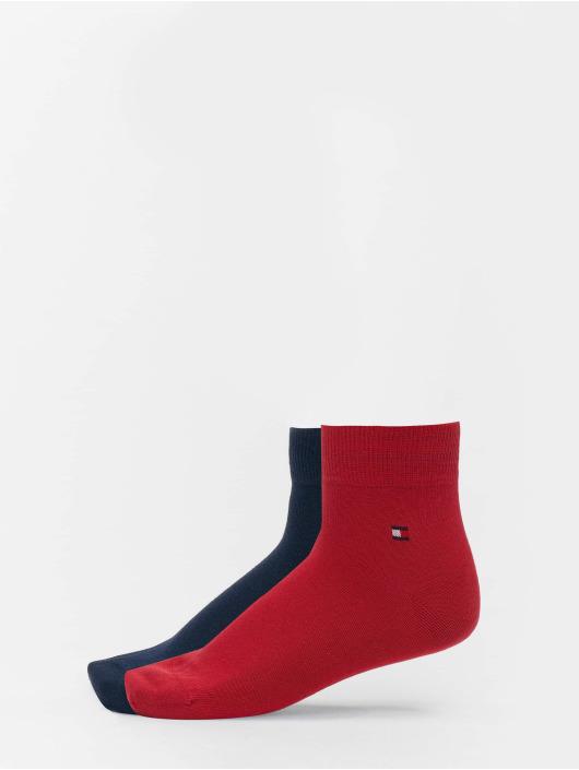 Tommy Hilfiger Dobotex Ponožky 2 Pack Quarter èervená