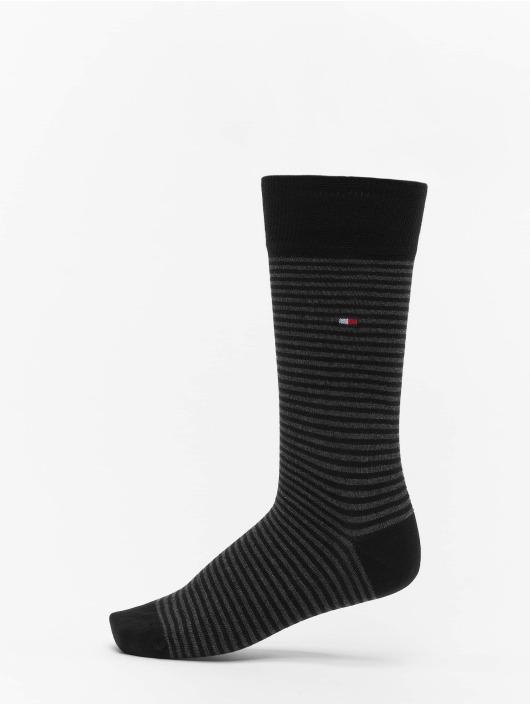 Tommy Hilfiger Dobotex Ponožky 2 Pack Small Stripe èierna
