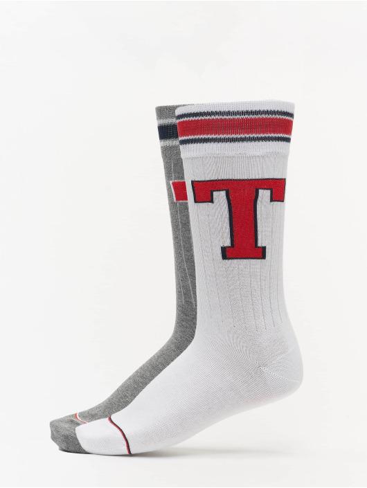 Tommy Hilfiger Dobotex Ponožky Patch 2P šedá