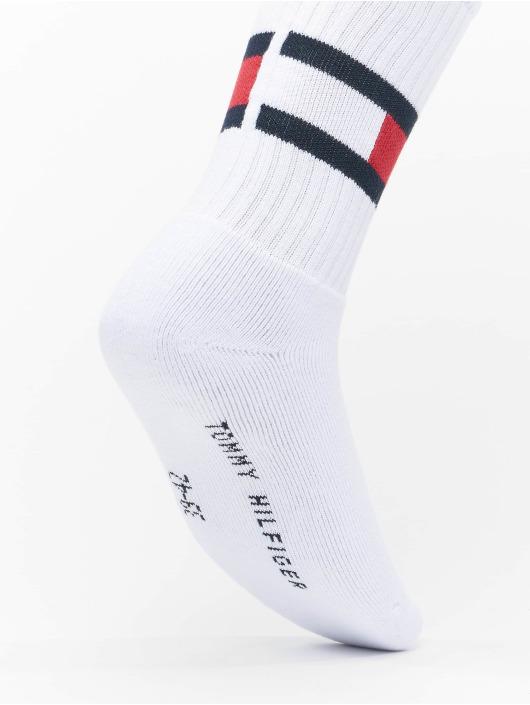Tommy Hilfiger Dobotex Ponožky Flag 1-Pack biela