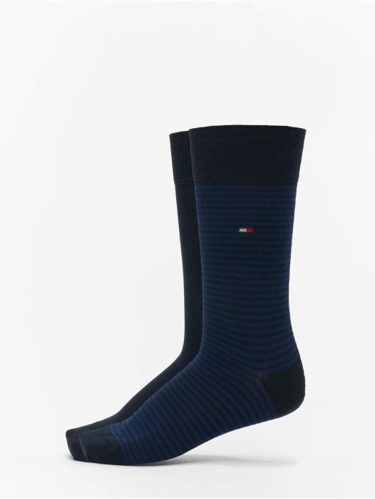 Tommy Hilfiger Dobotex Ponožky 2 Pack Small Stripe modrý