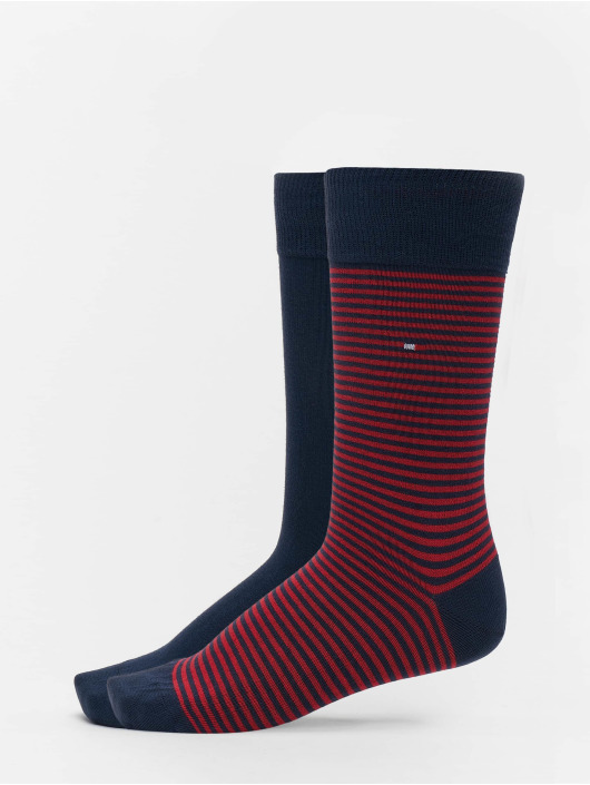 Tommy Hilfiger Dobotex Socks 2 Pack Small Stripe red