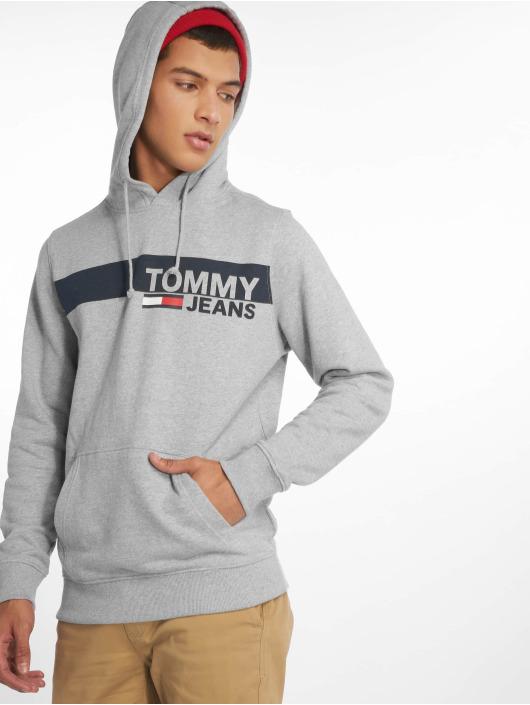 Tommy Jeans Bluzy z kapturem Essential Graphic szary