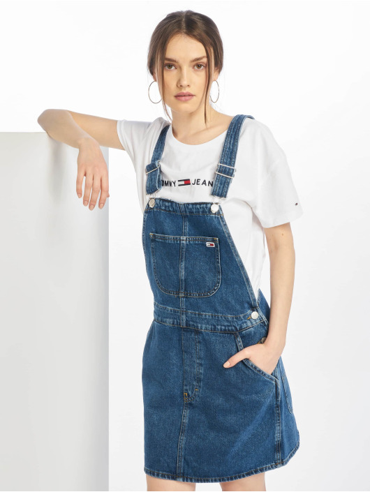 1f04ed5af5dc35 Tommy Jeans   jurk Classic Dungaree Dress in blauw 642240