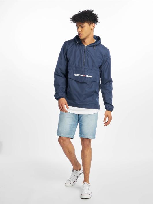 Tommy Jeans Kurtki przejściowe Nylon Shell Solid Popover niebieski
