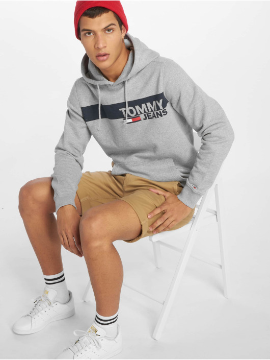 Tommy Jeans Mikiny Essential Graphic šedá