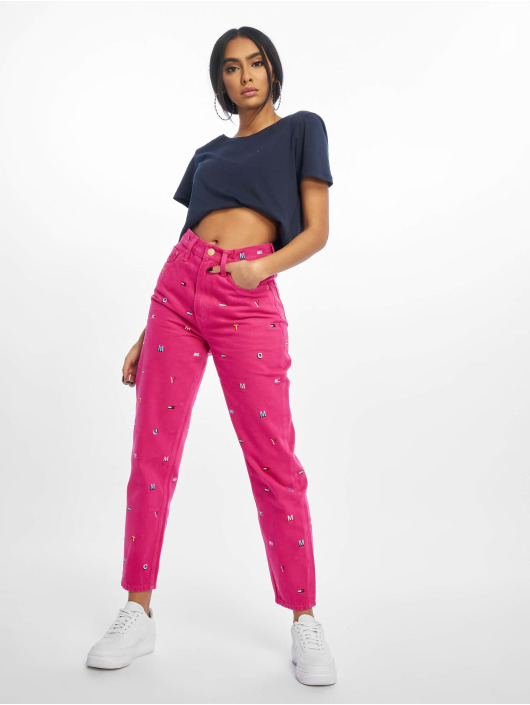 Tommy Jeans Mom Jeans High Rise Tapered TJ 2004 pink