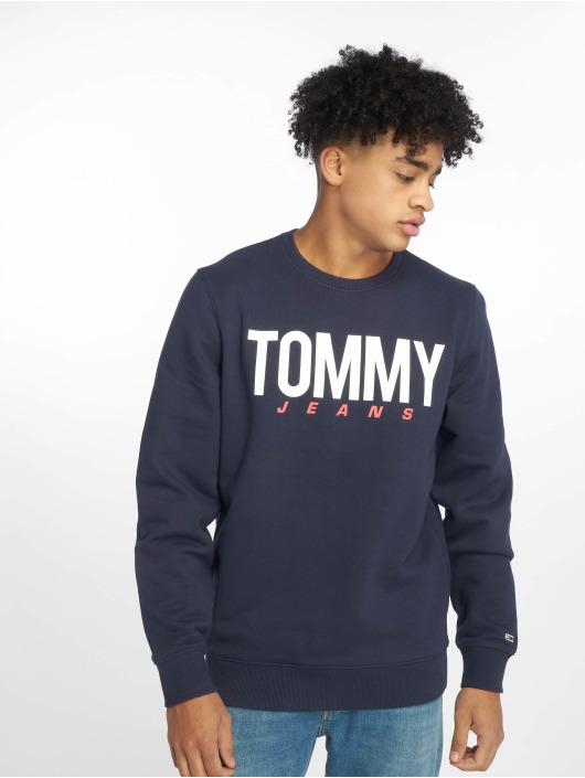 Tommy Jeans Pulóvre Essential Logo modrá