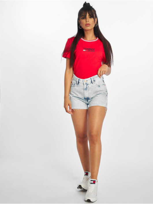 Tommy Jeans Shorts Hotpant Denim blå