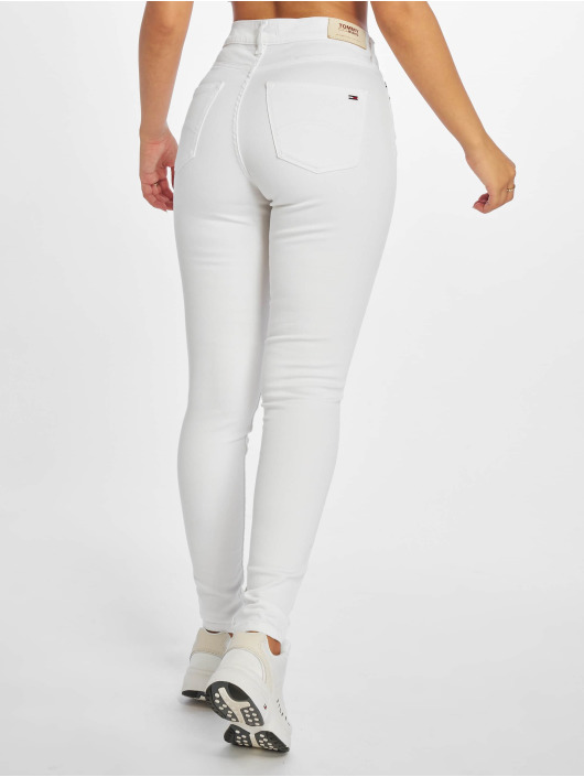 Tommy Jeans Skinny Jeans Nora 7/8 Mid Rise bialy