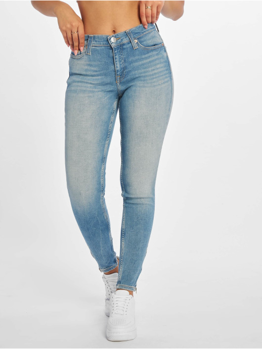 Tommy Jeans Skinny Jeans Nora 7/8 Zip Mid Rise blau