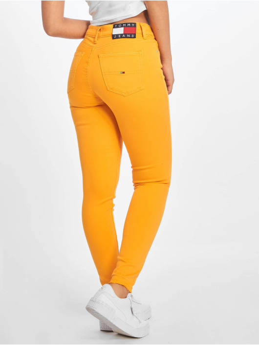 Tommy Jeans Skinny jeans Nora gul
