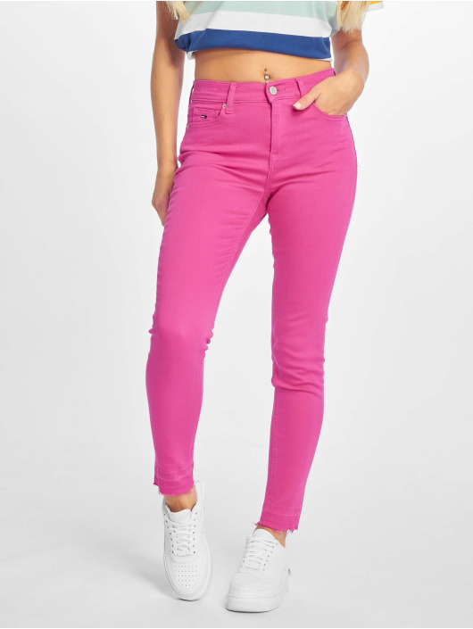 Tommy Jeans Skinny Jeans Nora 7/8 Mid Rise pink