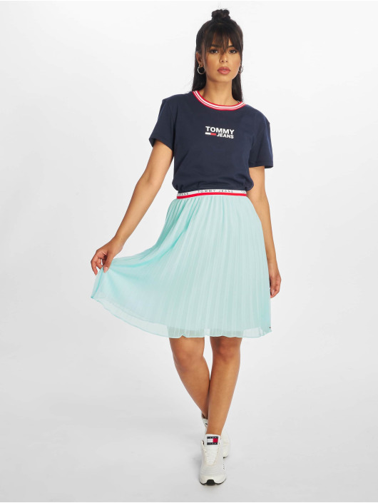 Tommy Jeans Skjørt Pleated turkis