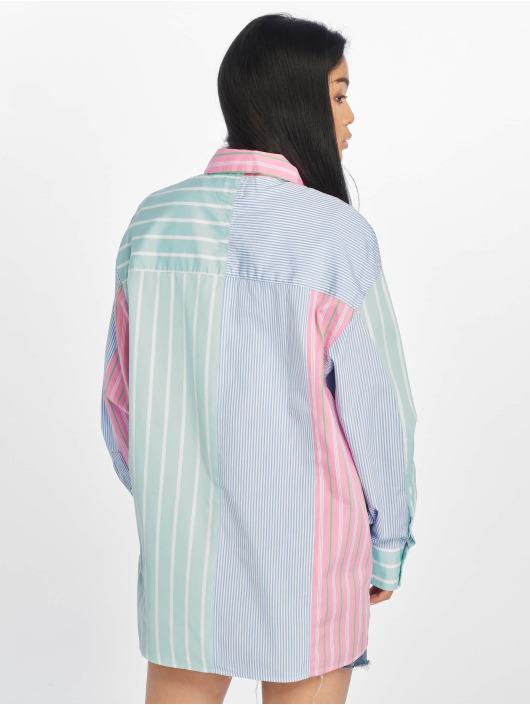 Tommy Jeans Skjorta Multicolor Stripe blå