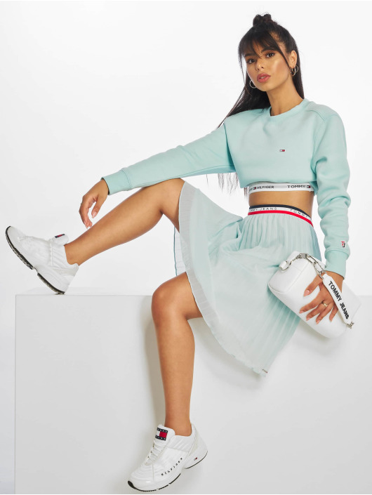 Tommy Jeans Sweat & Pull Side Seam Detail turquoise