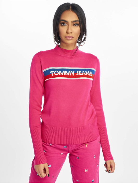 Tommy Jeans Swetry Graphic Stripe pink