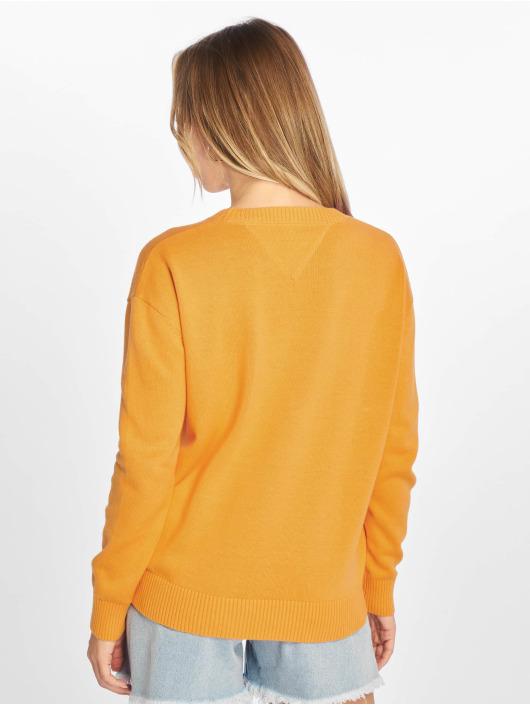 Tommy Jeans Swetry Classics pomaranczowy