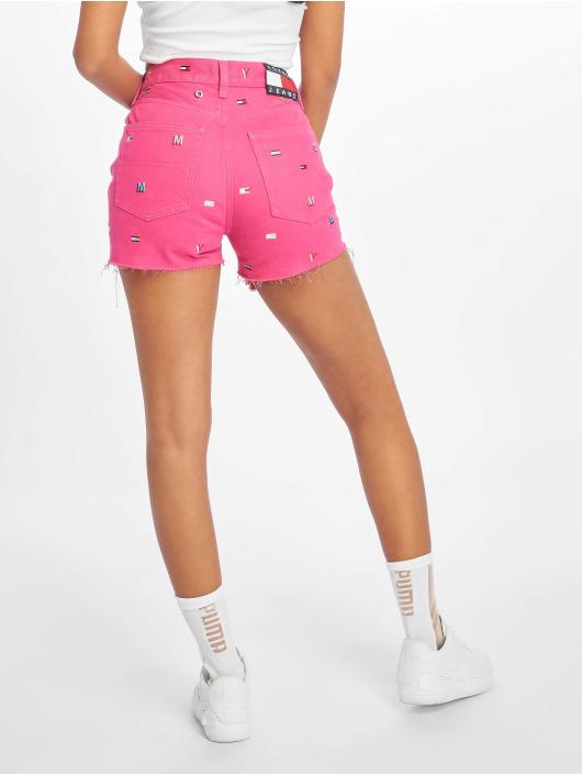 Tommy Jeans Szorty Hotpant Denim pink