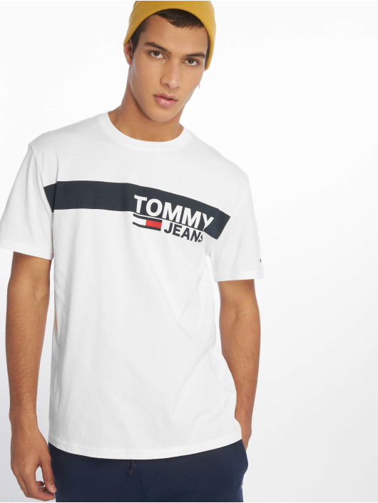 tommy jeans | essential box logo blanc homme t-shirt 641802