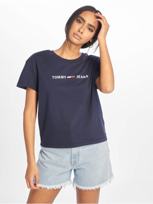 Tommy Jeans T-Shirt Clean Linear Logo blau