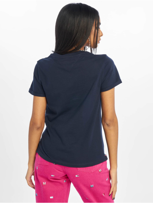 Tommy Jeans T-Shirt Relaxed Roll Up blau