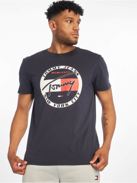 Tommy Jeans T-Shirt Circle Graphic blau