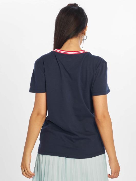 Tommy Jeans T-Shirt Rib Stripe blau